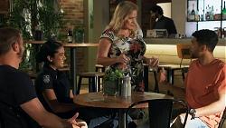 Kyle Canning, Yashvi Rebecchi, Sheila Canning, Levi Canning in Neighbours Episode 8644
