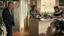 Paul Robinson, Terese Willis, David Tanaka in Neighbours Episode 8644