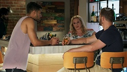 Levi Canning, Sheila Canning, Kyle Canning in Neighbours Episode 8644