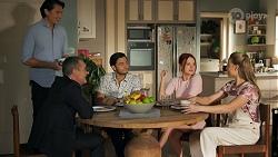 Leo Tanaka, Paul Robinson, David Tanaka, Nicolette Stone, Chloe Brennan in Neighbours Episode 8645