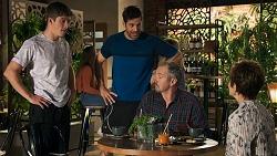 Hendrix Greyson, Pierce Greyson, Karl Kennedy, Susan Kennedy in Neighbours Episode 8645