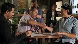 Pierce Greyson, Toadie Rebecchi, Paul Robinson, Leo Tanaka in Neighbours Episode 8645