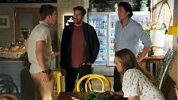 Hendrix Greyson, Pierce Greyson, Leo Tanaka, Harlow Robinson in Neighbours Episode 8645