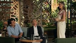 Leo Tanaka, Paul Robinson, Chloe Brennan in Neighbours Episode 8645
