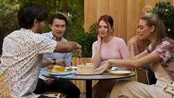 David Tanaka, Leo Tanaka, Nicolette Stone, Chloe Brennan in Neighbours Episode 8645