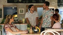 Chloe Brennan, David Tanaka, Aaron Brennan, Nicolette Stone in Neighbours Episode 8646