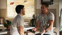 David Tanaka, Aaron Brennan in Neighbours Episode 8646