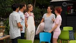 David Tanaka, Aaron Brennan, Chloe Brennan, Maya Velasco, Nicolette Stone in Neighbours Episode 8646