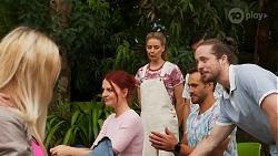 Nicolette Stone, Chloe Brennan, Aaron Brennan, David Tanaka, Dara Kay in Neighbours Episode 8646