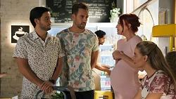 David Tanaka, Aaron Brennan, Nicolette Stone, Chloe Brennan in Neighbours Episode 8646
