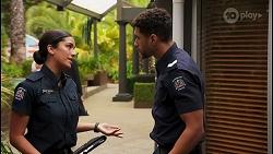 Yashvi Rebecchi, Levi Canning in Neighbours Episode 8648