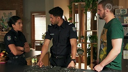 Yashvi Rebecchi, Levi Canning, Kyle Canning in Neighbours Episode 8648
