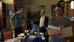Leo Tanaka, Paul Robinson, Chloe Brennan in Neighbours Episode 8649