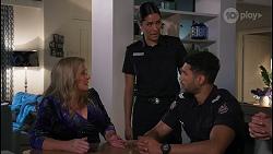 Sheila Canning, Yashvi Rebecchi, Levi Canning in Neighbours Episode 8649