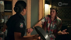 Yashvi Rebecchi, Hendrix Greyson in Neighbours Episode 8649