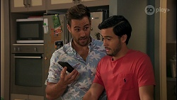 Aaron Brennan, David Tanaka in Neighbours Episode 8649