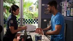 Yashvi Rebecchi, Levi Canning in Neighbours Episode 8649
