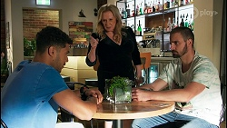 Levi Canning, Sheila Canning, Kyle Canning in Neighbours Episode 8649