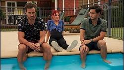 Aaron Brennan, Nicolette Stone, David Tanaka in Neighbours Episode 8649