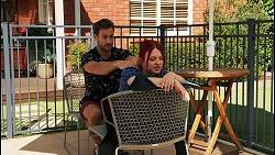 Aaron Brennan, Nicolette Stone in Neighbours Episode 8650