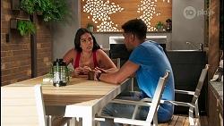 Yashvi Rebecchi, Levi Canning in Neighbours Episode 8650