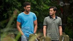 Levi Canning, David Tanaka in Neighbours Episode 8650