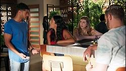 Levi Canning, Yashvi Rebecchi, Mackenzie Hargreaves, Kyle Canning in Neighbours Episode 8650