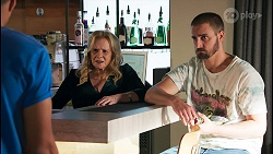 Levi Canning, Sheila Canning, Kyle Canning in Neighbours Episode 8650