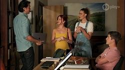 Leo Tanaka, Nicolette Stone, Chloe Brennan, Hendrix Greyson in Neighbours Episode 8651