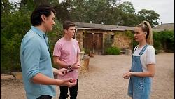 Leo Tanaka, Hendrix Greyson, Chloe Brennan in Neighbours Episode 8652