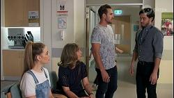 Chloe Brennan, Jane Harris, Aaron Brennan, David Tanaka in Neighbours Episode 8652