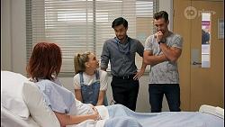 Nicolette Stone, Chloe Brennan, David Tanaka, Aaron Brennan in Neighbours Episode 8652