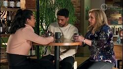 Yashvi Rebecchi, Levi Canning, Sheila Canning in Neighbours Episode 8653
