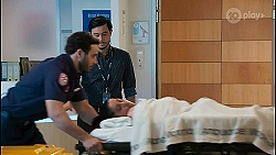 Travis Kellog, David Tanaka, Yashvi Rebecchi in Neighbours Episode 8654