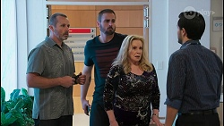Toadie Rebecchi, Kyle Canning, Sheila Canning, David Tanaka in Neighbours Episode 8654