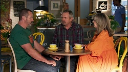 Toadie Rebecchi, Karl Kennedy, Melanie Pearson in Neighbours Episode 8655