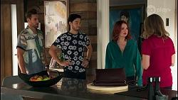 Aaron Brennan, David Tanaka, Nicolette Stone, Jane Harris in Neighbours Episode 8655