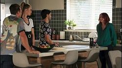 Aaron Brennan, Chloe Brennan, David Tanaka, Nicolette Stone in Neighbours Episode 8656
