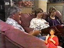 Lou Carpenter, Brett Stark, Danni Stark in Neighbours Episode 2177