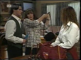 Rick Alessi, Pam Willis, Cody Willis in Neighbours Episode 2180