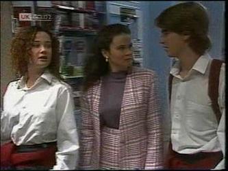 Cody Willis, Julie Martin, Brett Stark in Neighbours Episode 2180