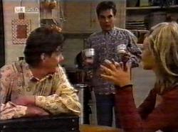 Elliot Patterson, Mark Gottlieb, Annalise Hartman in Neighbours Episode 2199