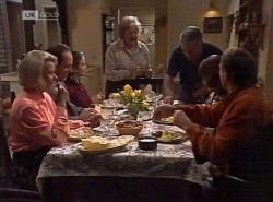 Helen Daniels, Philip Martin, Julie Martin, Marlene Kratz, Lou Carpenter, Pam Willis, Doug Willis in Neighbours Episode 2202
