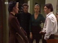 Cassandra Rushmore, Mark Gottlieb, Annalise Hartman, Rick Alessi in Neighbours Episode 2204