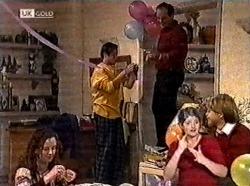 Cody Willis, Rick Alessi, Philip Martin, Danni Stark in Neighbours Episode 2211