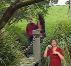 Brett Stark, Lata Chatterji in Neighbours Episode 2215