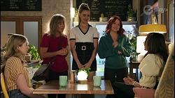 Mackenzie Hargreaves, Jane Harris, Chloe Brennan, Nicolette Stone, Dipi Rebecchi in Neighbours Episode 8657