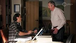 Leo Tanaka, Karl Kennedy in Neighbours Episode 8657