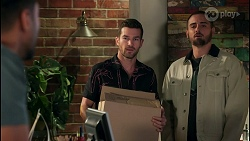 Levi Canning, Ned Willis, Kyle Canning in Neighbours Episode 8658