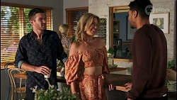 Ned Willis, Amy Greenwood, Levi Canning in Neighbours Episode 8659